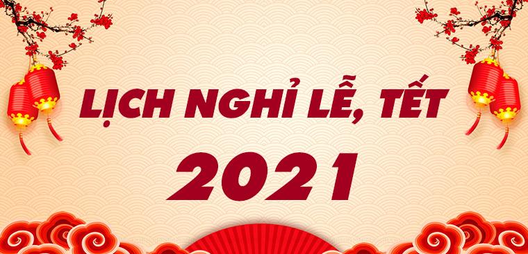 Thông báo lịch nghỉ tết dương lịch 2021
